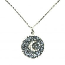 Gemolithos-Half-Moon-Silver-Pendant-with-Cubic-Zirconia-&-Blue-Glass