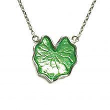 Gemolithos-Lily-pad-Silver-&-Green-Enamel-Pendant