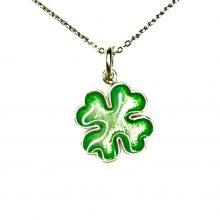 Gemolithos-Lucky-Leaf-Silver-&-Green-Enamel-Pendant