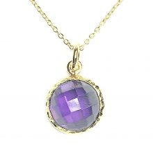 Gemolithos-Moon-Silver-Gold-Plated-Pendant-with-Amethyst-CZ