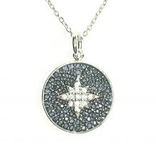 Gemolithos-Star-Silver-Pendant-with-Cubic-Zirconia-&-Blue-Glass