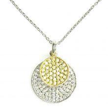 Gemolithos-Sun-&-Moon-Silver-Pendant-with-White-&-Yellow-Cubic-Zirconia