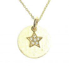 Gemolithos-Sun-&-Star-Pendant-Silver-925-Gold-Plated