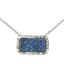 Gemolithos-druzy-Blue-Stone-&-Silver-Pendant-Rectangle