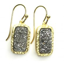Gemolithos-druzy-grey-stone-&-gold-plated-silver-earrings-rectangle