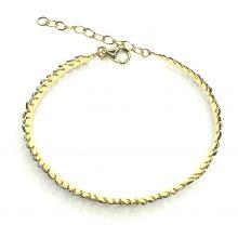 Gemolithos-feather-silver-&-gold-plated-bracelet