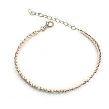 Gemolithos-feather-silver-&-gold-rose-plated-bracelet